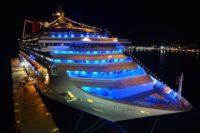 luxusschiff bei nacht