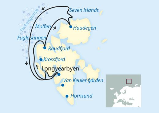 reise verlauf spitzbergen