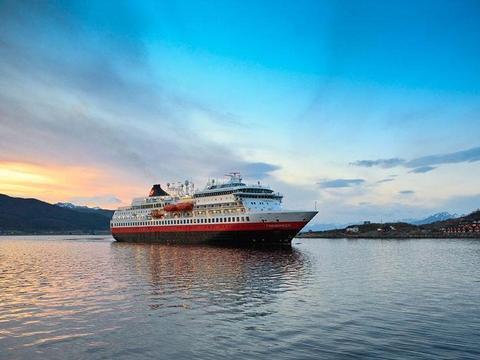 Kirkenes nach Bergen Postschiffroute